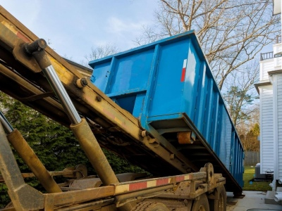Maintaining Social Distancing During Dumpster Drop-Off